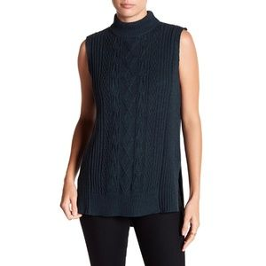 Michael Stars Mock Neck Cable Knit Tunic NWT